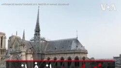 تصاویری از فراز کلیسای نوتردام قبل از آتش سوزی اخیر