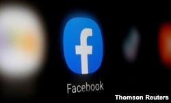 Logo của Facebook trên điện thoại thông minh