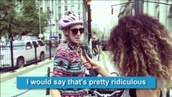 NY Women React to Iran's Female Cycling Ban