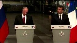 Fransa prezidenti Vladimir Putinlə görüş keçirib