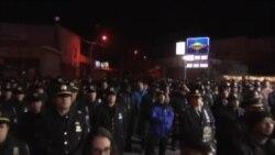 حضور گسترده پلیس آمریکا در مراسم بزرگداشت همکارشان در نیویورک