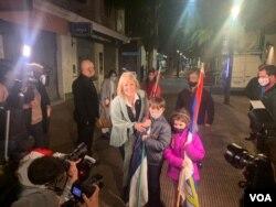 Carolina Cosse, del izquierdista Frente Amplio, fue elegida intendente de Montevideo. Foto Leonardo Luzzi, VOA.