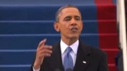 奥巴马新任期强调和平协商处理国际争端