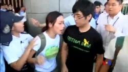 2014-09-23 美國之音視頻新聞: 香港抗議學生要求與梁振英對話