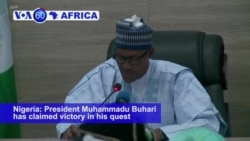 VOA60 Africa - Nigeria's Buhari Wins Second Term as President