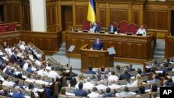 Suasana sidang parlemen Ukraina di Kyiv, 29 Agustus 2019. (Foto: dok).