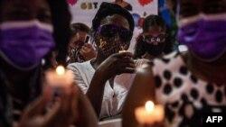 Vigília pela morte do Presidente do Haiti, Jovenal Moise, em Miami, 15 de Julho de 2021