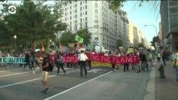 В Вашингтоне демонстранты снова перекрыли центр города