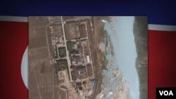 卫星图像显示的宁边核反应堆。