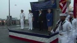 美旗舰访南海舰队 热情背后有险情