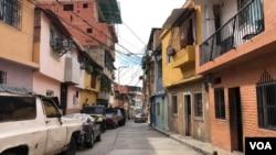 Casas en la popular barriada de Chapellín, en el centro de Caracas, Venezuela. el 12 de noviembre de 2020.