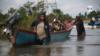 En esta foto se puede ver el impacto de la tormenta tropical Eta en Nicaragua. [Foto Houston Castillo/VOA].