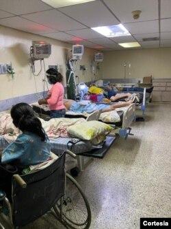 El pabellón de la emergencia del Hospital Universitario de Maracaibo, en Venezuela, en mayo de 2021.