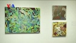 نمایشگاه نقاشی یک هنرمند آمریکایی با الهام از خط فارسی