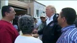 Претседателот Трамп на разговори со погодените од ураганот во Порторико