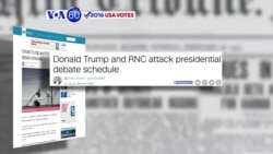 VOA60 Elections: CNN: Donald Trump calls the fall debate schedule 'unacceptable'