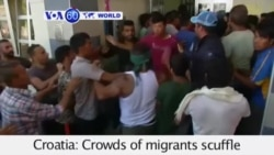 VOA60 World - Croatia: A fight between migrants erupted two kilometers from the Hungarian border - September 18, 2015h