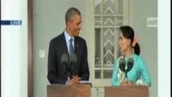 奧巴馬在仰光會晤昂山素姬