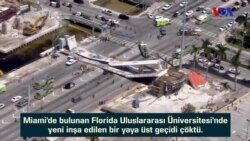 Miami'de Üst Geçit Çöktü: Ölenler Var