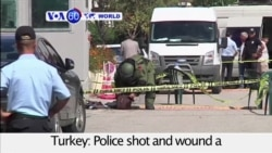 VOA60 World PM - Turkey: Police shot and wound a knife-wielding man after he tries to enter the Israeli Embassy in Ankara