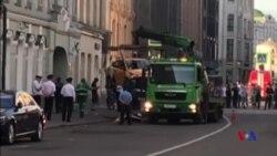 莫斯科的士衝撞行人引發恐襲虛驚