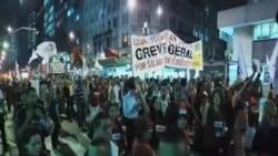 巴西教師抗議政府對世界杯財政支持