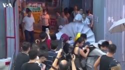 香港元朗暴力事件现场画面