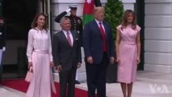 川普与约旦国王会面 推进中东和平计划