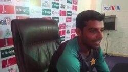 میچ جیتنے کے بعد شاداب خان کی خوشی
