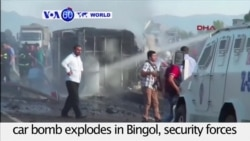 VOA60 World - Turkey: Six police officers killed after a car bomb explodes in Bingol