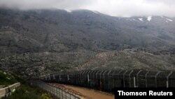 اسرائیل اور شام کی سرحد پر نصب باڑ، فائل فوٹو