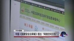 "VOA连线:中国《国家安全法草案》提出""网络空间主权"""