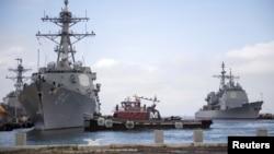 防控疫情美太平洋艦隊宣布軍艦需海上隔離14天。(資料圖片)