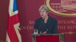 Британската премиерка Тереза Меј за опасностите од руското влијание на Балканот и во Европа
