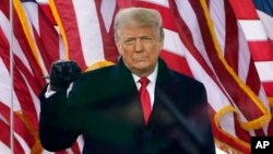 Président Donald Trump na Washington, 5 mai 2021.