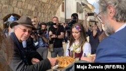 Nobelovac Peter Handke i reditelj Emir Kusturica u Višegradu, 7. maj, 2021.
