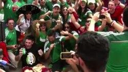 브라질 해변 달구는 월드컵 열기
