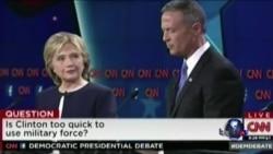 克林顿桑德斯围绕叙利亚和控枪等问题首度激辩