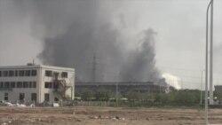 天津爆炸造成44人丧生防化兵进入现场