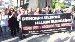 İzmir'de 'Demokrasi Nöbeti' Sürüyor