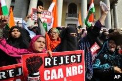 ترمیمی شہریت بل کے خلاف کلکتہ میں خواتین کا مظاہرہ