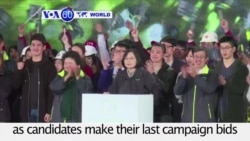 VOA60 World PM - Ailing Economy Dominates Final Hours of Taiwan Presidential Race