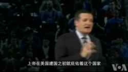 美参议员克鲁兹宣布参选总统 强调保守理念