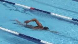 Ibrahim Al Hussein, nageur paralympique de l'équipe des réfugiés