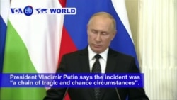 VOA60 World PM - Russia Blames Israel for Syrian Missile Downing Russian Plane