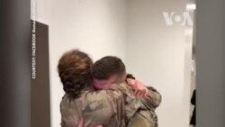 Cuộc đoàn tụ xúc động của cặp quân nhân Mỹ