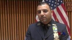 """携""""炸弹""""避开人群,穆斯林警官成为纽约英雄"""