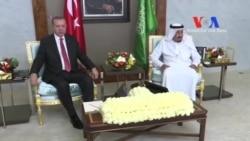 Erdoğan Suudi Arabistan Kralı Salman'la Görüştü