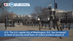 VOA60 World - Washington Beefs Up Security Ahead of Presidential Inauguration