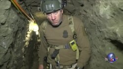 毒贩在美墨边境深挖洞 布局相当复杂